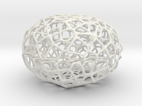 Little Voronoi Pearl Light Lamp No. 3 (8 cm) in White Natural Versatile Plastic