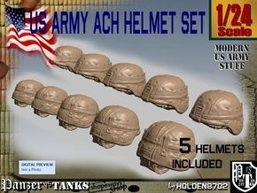 1-24 US Army ACH Helmet Set in Frosted Ultra Detail