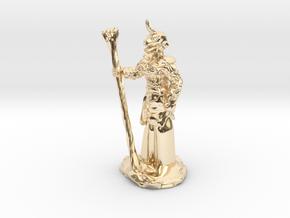 Female Dragonborn Druid in 14K Yellow Gold