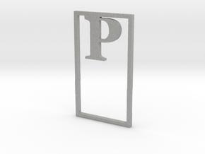 Bookmark Monogram. Initial / Letter P in Aluminum
