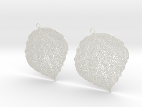 Leaf earrings in White Strong & Flexible