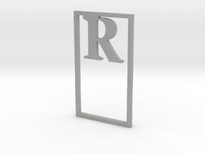 Bookmark Monogram. Initial / Letter R              in Aluminum