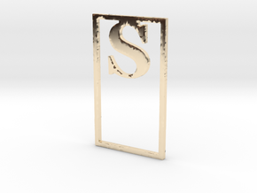 Bookmark Monogram. Initial / Letter S              in 14k Gold Plated Brass