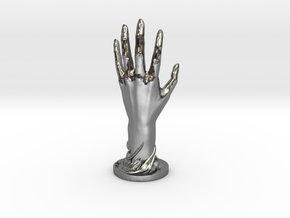 Hand in Polished Silver