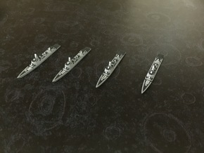 Type 052D Destroyer x 4, 1/1800 in White Natural Versatile Plastic
