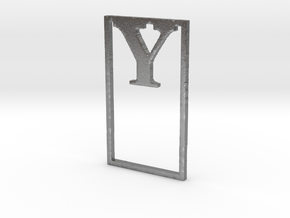 Bookmark Monogram. Initial / Letter  Y  in Natural Silver