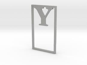 Bookmark Monogram. Initial / Letter  Y  in Aluminum