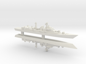 Type 052 Destroyer x 2, 1/2400 in White Strong & Flexible