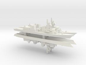 Murasame-class destroyer x 4, 1/2400 in White Natural Versatile Plastic