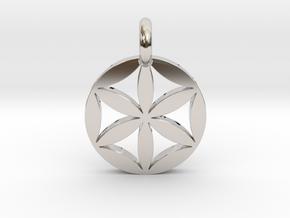 Flower of Life Pendant in Platinum