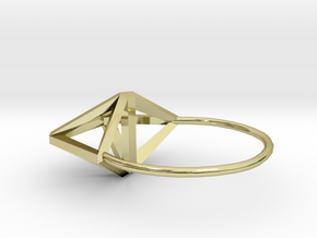 Amplituhedron Ring (Size 8) in 18k Gold Plated: 5 / 49