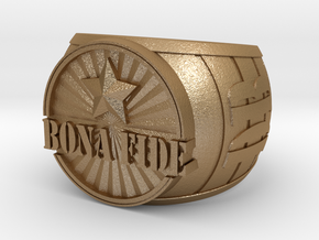 Daniel Bonte Ring 23mm in Matte Gold Steel