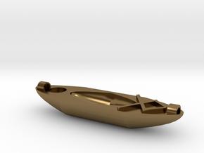 Kayak Ornament in Polished Bronze