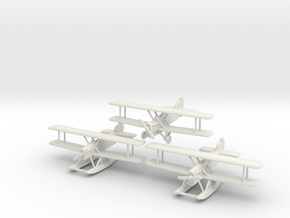 Douglas DT-2 (three airplanes) 6mm 1/285 in White Natural Versatile Plastic
