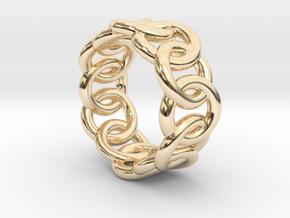 Chain Ring 14 – Italian Size 14 in 14K Yellow Gold