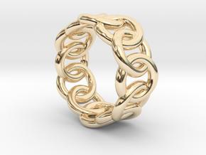 Chain Ring 16 – Italian Size 16 in 14K Yellow Gold
