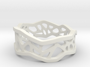 Web Ring_size 8 in White Natural Versatile Plastic