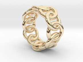 Chain Ring 17 – Italian Size 17 in 14K Yellow Gold