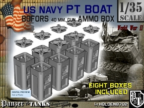1-35 Bofors Ammo Box Set1 in Smooth Fine Detail Plastic