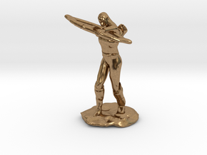 Elf Ranger with Longbow in Natural Brass