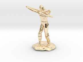 Elf Ranger with Longbow in 14K Yellow Gold