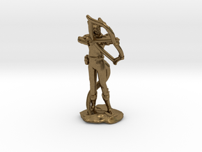 Tiefling Ranger with  Bow in Natural Bronze