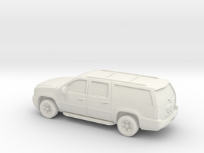 1/87 2007-14 Chevrolet Suburban in White Natural Versatile Plastic