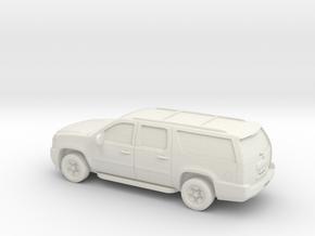 1/87 2007-14 Chevrolet Suburban in White Natural Versatile Plastic