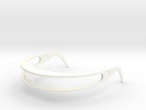 Star Trek Visor Frame in White Processed Versatile Plastic: Small