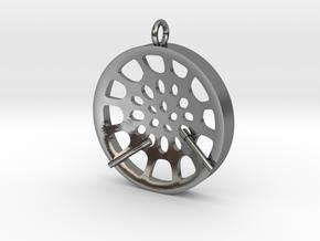 "Low Tenor ""Void"" steeplan pendant in Polished Silver: Medium"