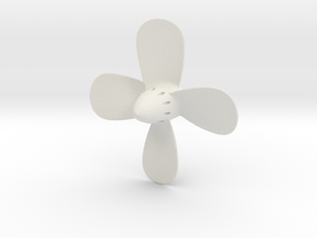 Titanic Propeller - 4-Bladed Scale 1:100 in White Strong & Flexible
