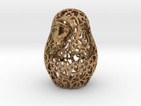 Matryoshka / Nesting Doll Pendant in Polished Brass