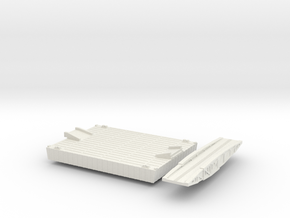 1/300 Mulberry Harbour Intermediate Pontoon in White Natural Versatile Plastic