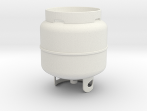 Propane Tank in White Natural Versatile Plastic