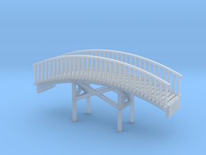 Foot Bridge Z Scale in Smooth Fine Detail Plastic