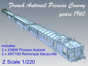 1-220 Convoy Autorail Picasso 1960 in Polished Bronzed Silver Steel