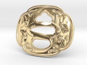 Tsuba Belt Buckle - 鍔  バックル in 14k Gold Plated Brass