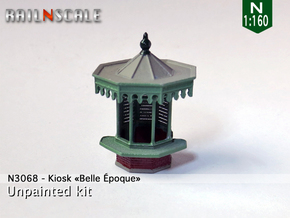 Kiosk Belle Époque in Smoothest Fine Detail Plastic