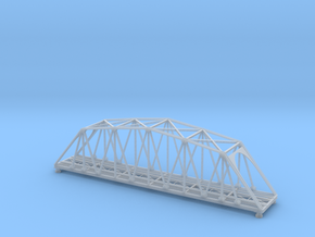 120ft Truss Bridge Z Scale in Smooth Fine Detail Plastic