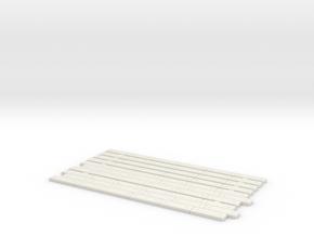HOBV51 - Level crossing in White Natural Versatile Plastic