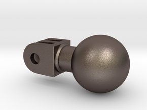 action camera ball joint in Polished Bronzed Silver Steel