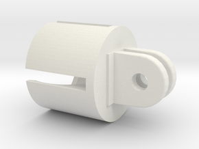 Action camera Socket Mount 2 Prong in White Natural Versatile Plastic