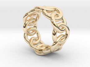 Chain Ring 26 – Italian Size 26 in 14K Yellow Gold