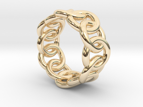 Chain Ring 27 – Italian Size 27 in 14K Yellow Gold