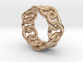 Chain Ring 27 – Italian Size 27 in 14k Rose Gold Plated