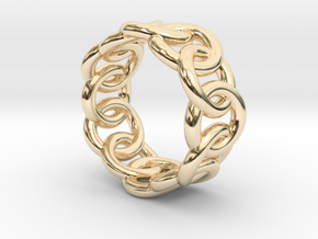Chain Ring 30 – Italian Size 30 in 14K Yellow Gold
