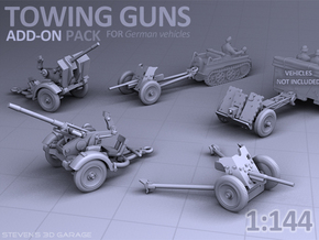 Towing Guns - (PAK36 / IG18 / Flak30) in Smooth Fine Detail Plastic