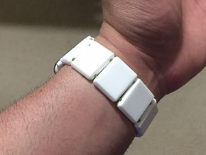 22mm Watch Band Links in White Processed Versatile Plastic