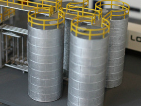 N Scale Chemical Tank in Smooth Fine Detail Plastic