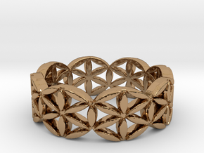 Flower of life V2 Size 10.25 in Polished Brass